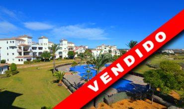 Murcia, Hacienda Riquelme Golf, Atlantico 78, Segundo Acristalado, Vistas Golf-Piscina