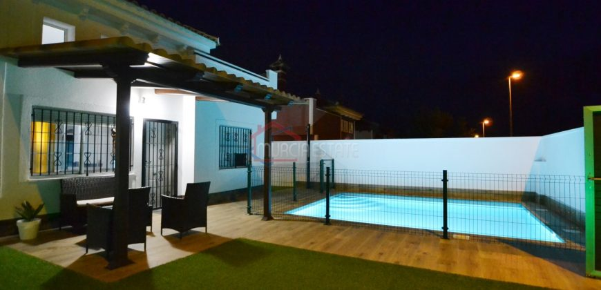 Murcia, Sucina, Detached Villa, 3 Beds, 2 Baths, Big Private Pool, Lot Improvements