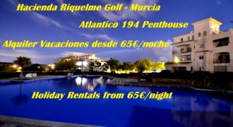Murcia, Hacienda Riquelme Golf, Atlantico 194, Penthouse, Holiday Rentals
