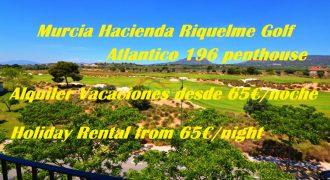 Murcia, Hacienda Riquelme Golf, Atlantico 196 Penthouse, Holiday Rentals