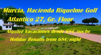 Murcia, Hacienda Riquelme Golf, Atlantico 27, Ground Floor, Holiday Rentals